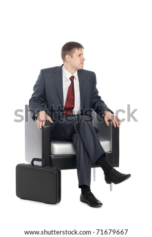 Awaiting a handsome young businessman. - stock photo