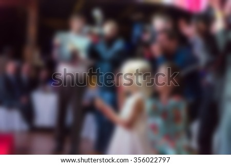 Award ceremony theme creative abstract blur background with bokeh effect