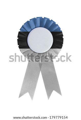 Award ribbon isolated on a white background, Estonia