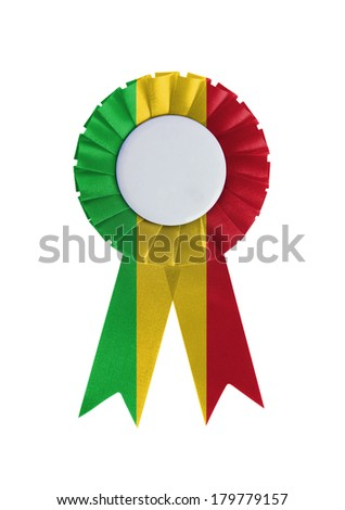Award ribbon isolated on a white background, Mali