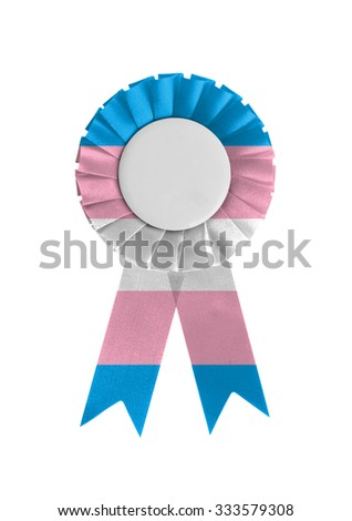 Award ribbon isolated on a white background, Trans Pride