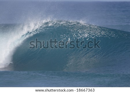awesome breaking wave - stock photo