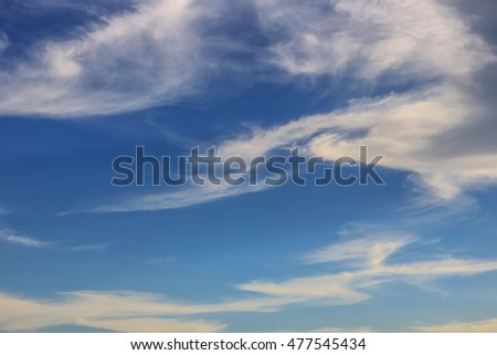 Awesome Bright Blue Sky Partly Cloudy Best Ozone - Texture Background