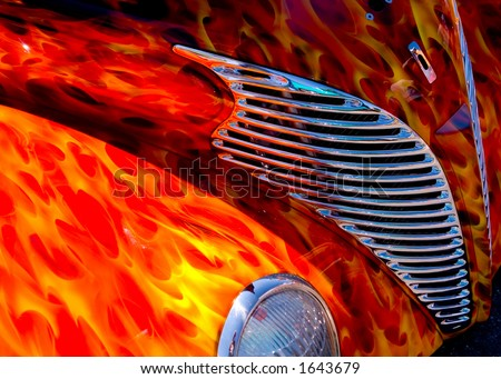 Awesome Flame Paint Job - stock photo