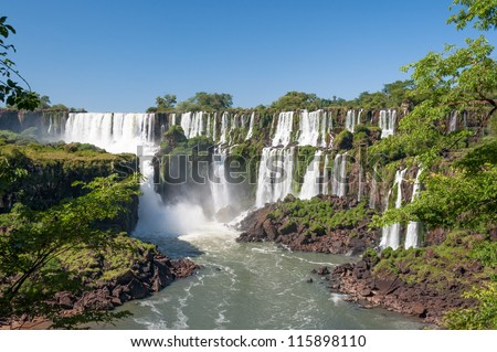 Awesome Iguazu waterfall in Angentina - stock photo