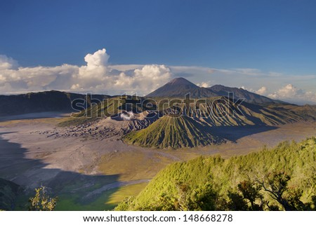 Awesome landscape of Mount Bromo in Indonesia