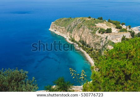 Awesome Seaview from the casstle of Naphplion. Greece