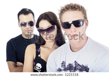 Awesome threesome 5, close up - stock photo