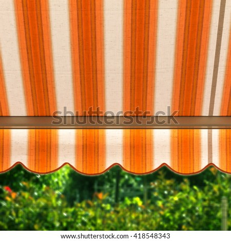 awning protects from hot sun