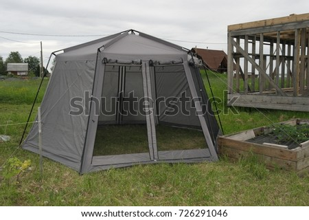 Awning Tent With Mosquito Net To Stay In The Country