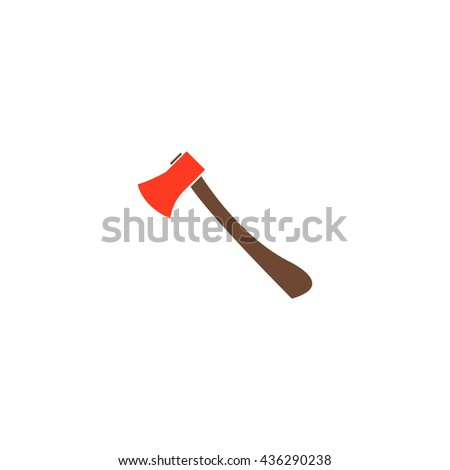 Axe. Color simple flat icon on white background