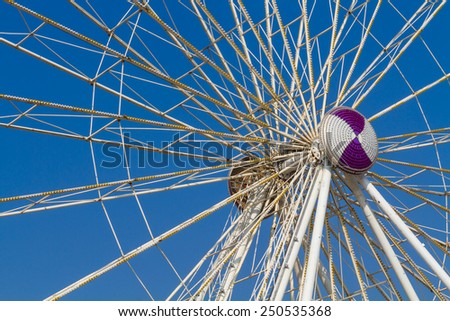 Axle ferris wheel - stock photo