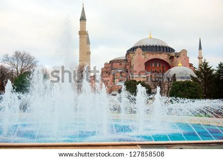 Aya Sofia, Istanbul, Turkey - stock photo