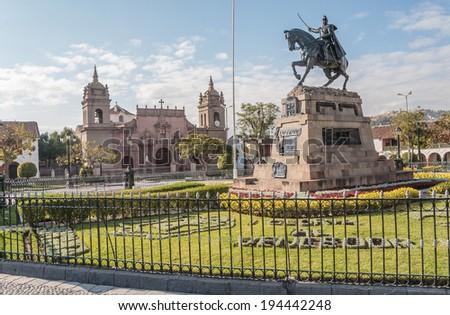 AYACUCHO - PERU CIRCA 2013: Street view of Ayacucho Circa 2013. - stock photo