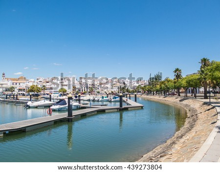 AYAMONTE,  SPAIN - JUNE 17, 2016.  Ayamonte marina has a capacity of 317 berths for vessels of 25 meters of length. Ayamonte in south west Spain borders Portugal along the Guadiana River.