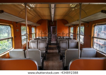 AYDIN, TURKEY - APRIL 30, 2016 : Inside view of historical old iron train locomotives exhibited in Camlik Train Museum.