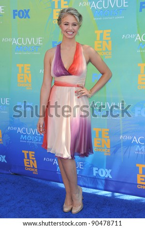 Ayla Kell at the 2011 Teen Choice Awards at the Gibson Amphitheatre, Universal Studios, Hollywood. August 7, 2011  Los Angeles, CA Picture: Paul Smith / Featureflash