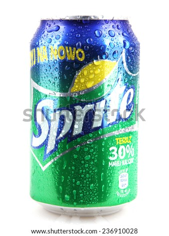 AYTOS, BULGARIA - DECEMBER 11, 2014: Sprite isolated on white background. Sprite is a colorless, lemon-lime flavored, caffeine-free soft drink, created by the Coca-Cola Company. - stock photo