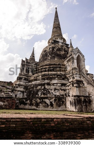 Ayutthaya Thailand - ancient city and historical place. Wat Phra Si Sanphet