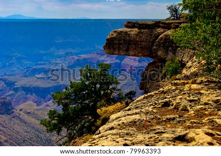 AZ-Grand Canyon-North Rim-Widforss Trail.  The splendor of the Grand Canyon is seen from this area of the Widforss Trail - stock photo
