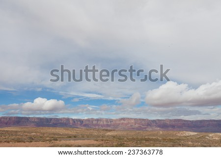 AZ-Vermillion Cliffs Wilderness Portions of this stunning landscape can be seen along Route 89A close to Lee's Ferry. - stock photo