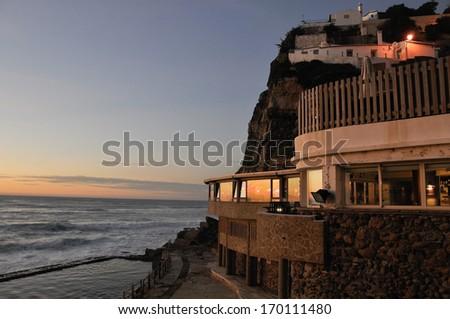 Azenhas do Mar, Portugal - stock photo