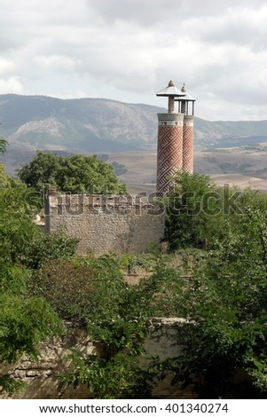 Azerbaijan, Shusha- September,16,2007.Ruins of city Shusha,Nagorno-Karabakh after the Armenian-Azerbaijan war. - stock photo