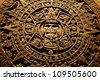 Aztec calendar - End of the World 12.12. 2012 - stock photo