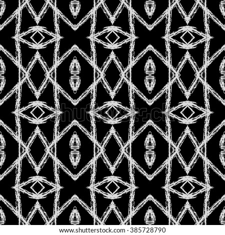 Vector Seamless Ethnic Pattern American Indian Stock