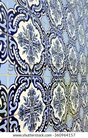 Azulejo (wall tiles) in Vila Nova de Gaia, Portugal