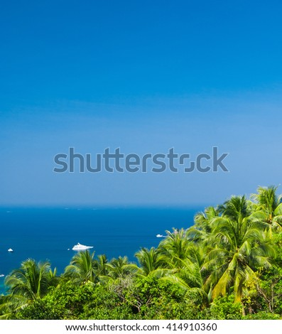 Azure Bay Palm Island  - stock photo