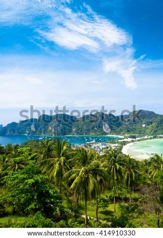 Azure Bay Scenic  Holidays  - stock photo