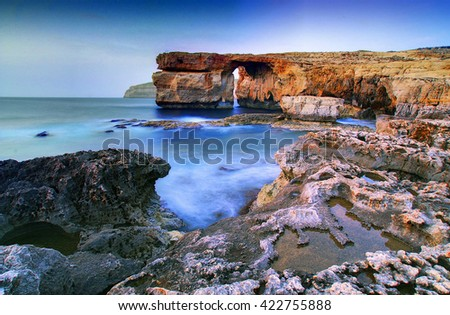 Azure Window in the island of Gozo, Malta