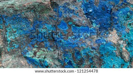 Azurite and Makachite in its' natural state.