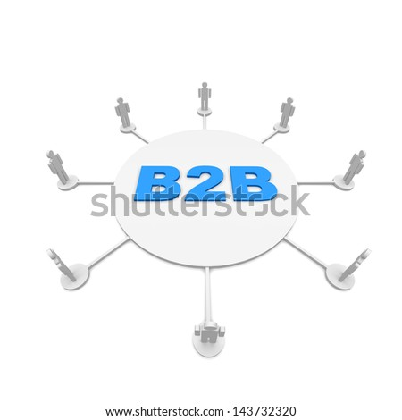 b2b - stock photo