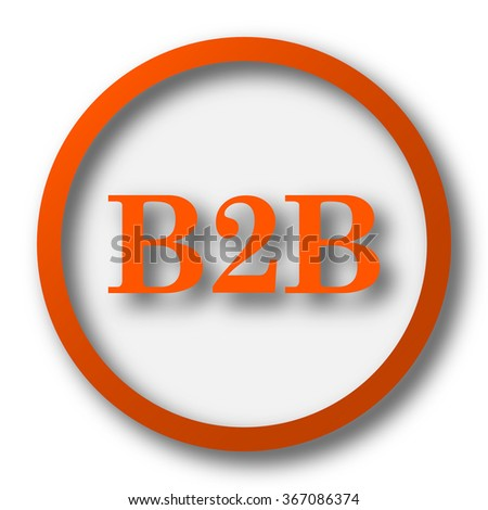 B2B icon. Internet button on white background.