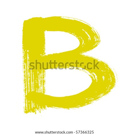 B - Colorful alphabet  isolated over the white background - stock photo