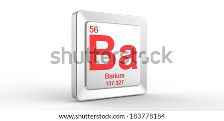 Ba symbol 56 material for Barium chemical element of the ... Barium Symbol