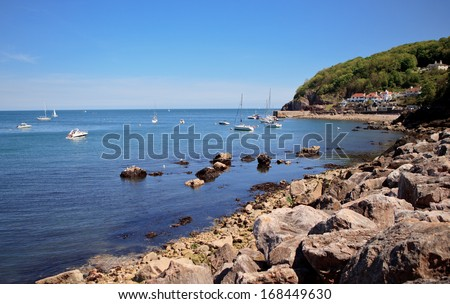 Babbacombe beach, Torquay, Devon coast,  United Kingdom - stock photo