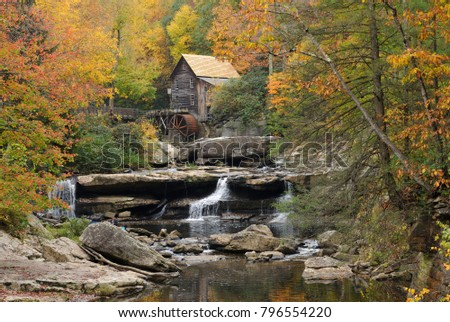 Babcock State Park, west Virginia, USA, October 10, 2015, Glade Creek Grist Mill