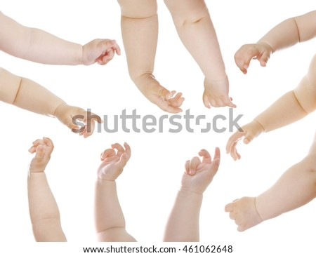 Babies hands isolated on white