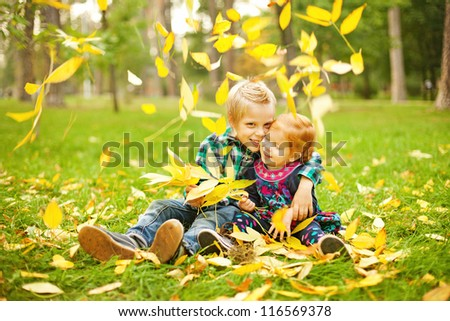 babies in autumn