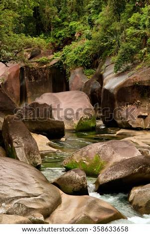 Babinda Boulders, Queensland, Australia - stock photo