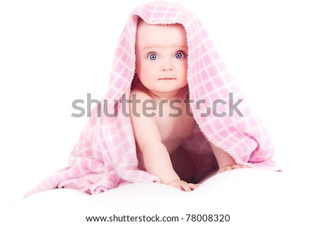 baby after bath - stock photo