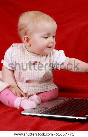 baby and notebook