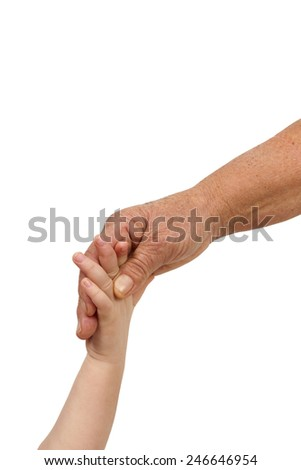 baby and old adult hands