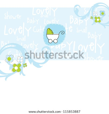 Baby arrival card - Baby shower card