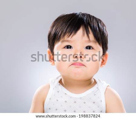 Baby Asian boy - stock photo