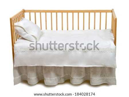Baby bed - stock photo
