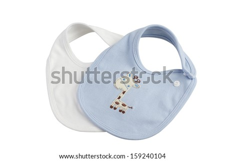 Baby bibs isolated on white background - stock photo